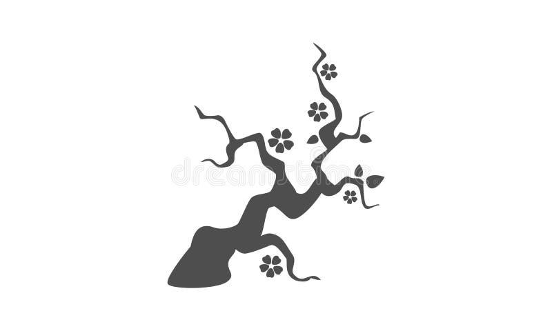 Una imagen simple de una planta de los bonsais stock de ilustración