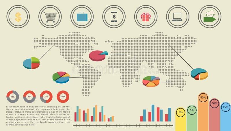 Una interfaz gráfica de la economía ilustración del vector