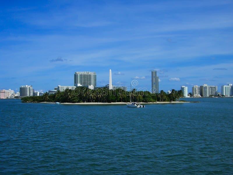 una isla en Miami fotos de archivo libres de regalías
