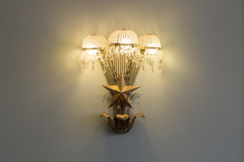 Una lámpara vieja del diseño de URSS imagen de archivo libre de regalías