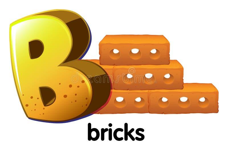 Una letra B para los ladrillos stock de ilustración