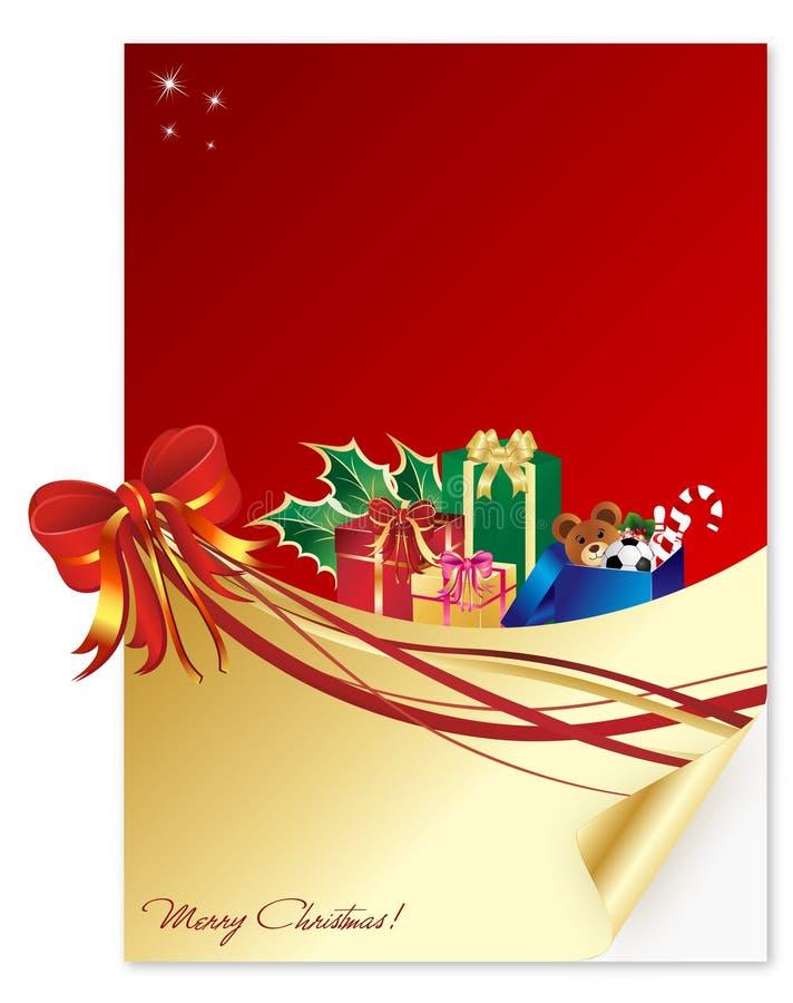 Una letra de la Navidad stock de ilustración