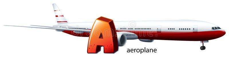 Una letra A para el avión stock de ilustración