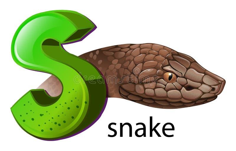 Una Letra S Para La Serpiente Ilustración del Vector - Ilustración ...