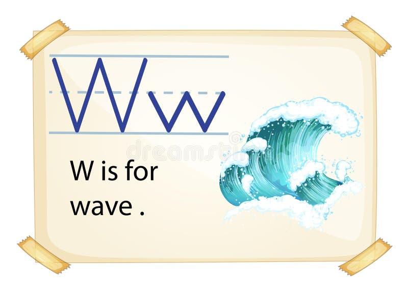 Una letra W para la onda libre illustration