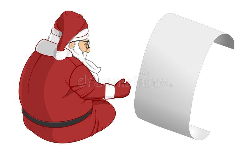 Una lettera dall'illustrazione del Babbo Natale royalty illustrazione gratis
