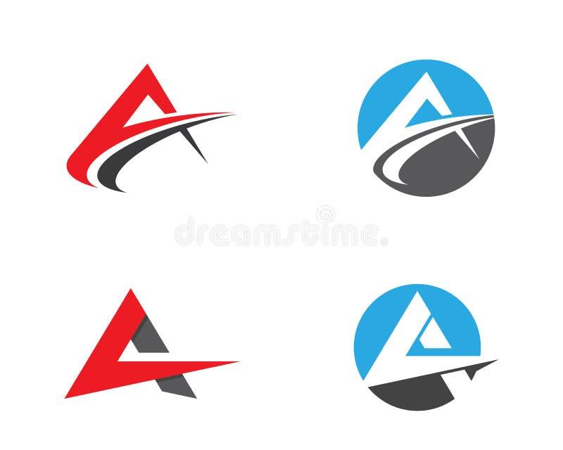 Una lettera Logo Business Template illustrazione vettoriale