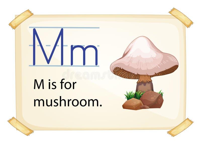 Una lettera m. per il fungo illustrazione di stock