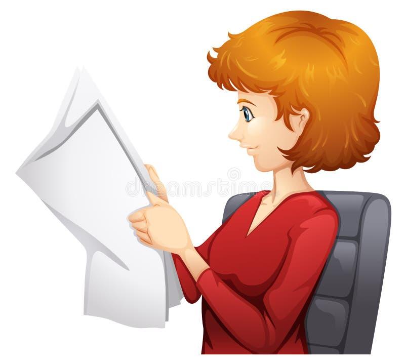 Una lettura della donna royalty illustrazione gratis
