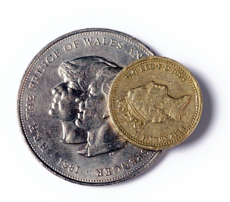 Una libra esterlina imagen de archivo