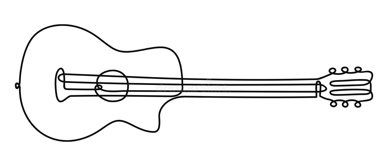 Una linea chitarra royalty illustrazione gratis