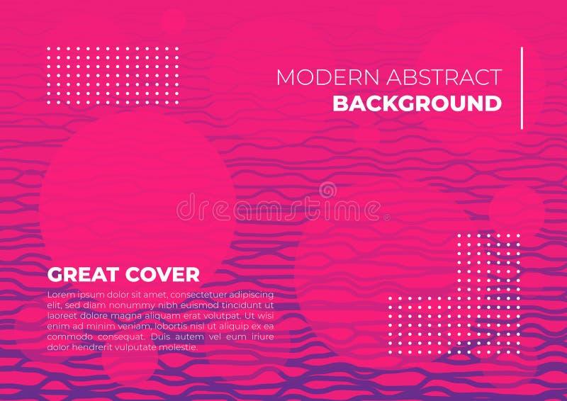 Una linea copertura porpora magenta dell'estratto del fondo di rosa variopinto vibrante dell'insegna royalty illustrazione gratis