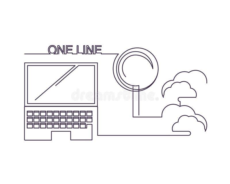Una linea progettazione illustrazione di stock