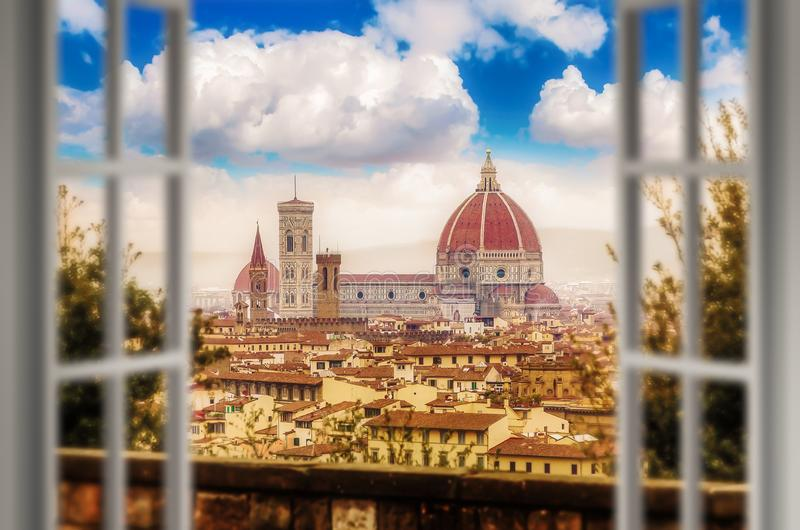 Una mañana de Florencia en invierno imagen de archivo libre de regalías