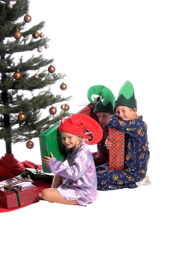 Una mañana de la Navidad de Childs fotografía de archivo