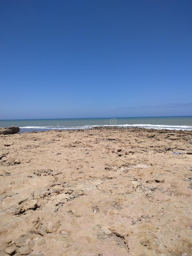 Una mañana en la playa de Cabo Bojador fotos de archivo