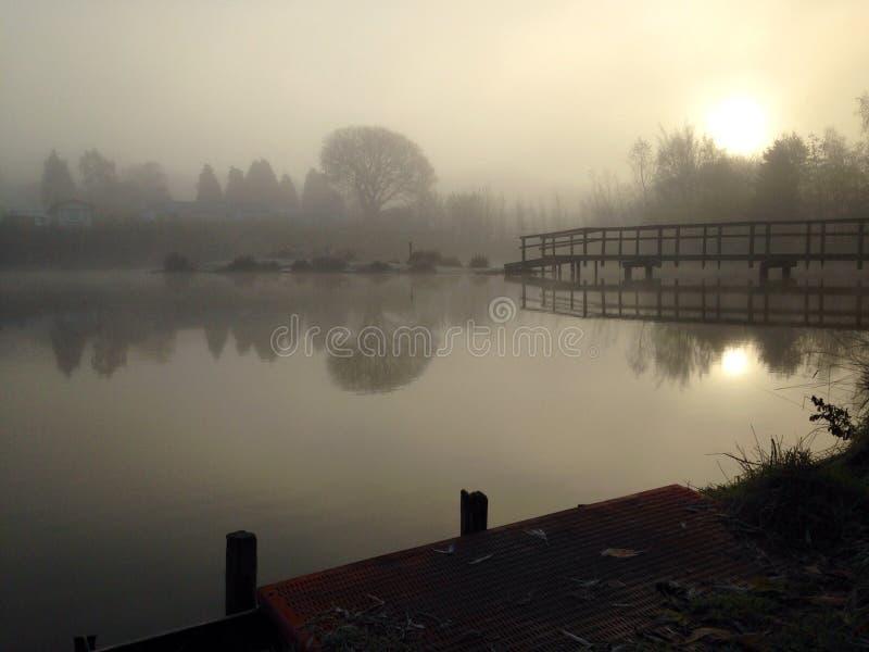 Una mañana fría y escarchada foto de archivo