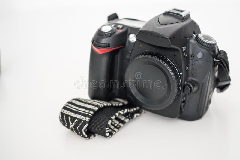 Una macchina fotografica di DSLR senza lente fotografia stock libera da diritti