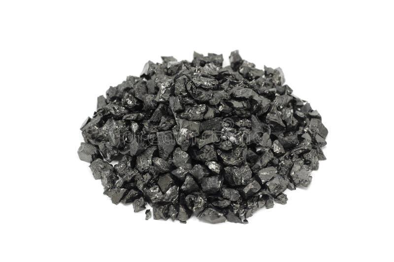Una manciata di carbone nero fotografie stock libere da diritti