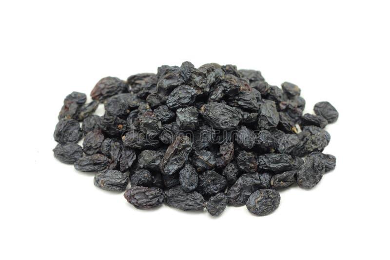 Una manciata di nero dell'uva passa immagini stock