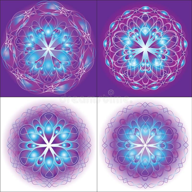 Mandala di angelo illustrazione vettoriale