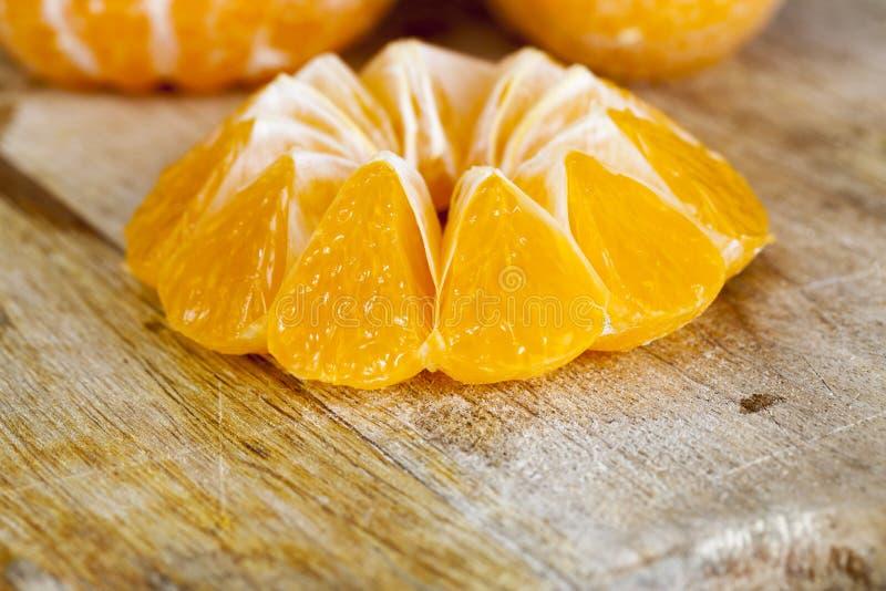 Una mandarina jugosa madura foto de archivo