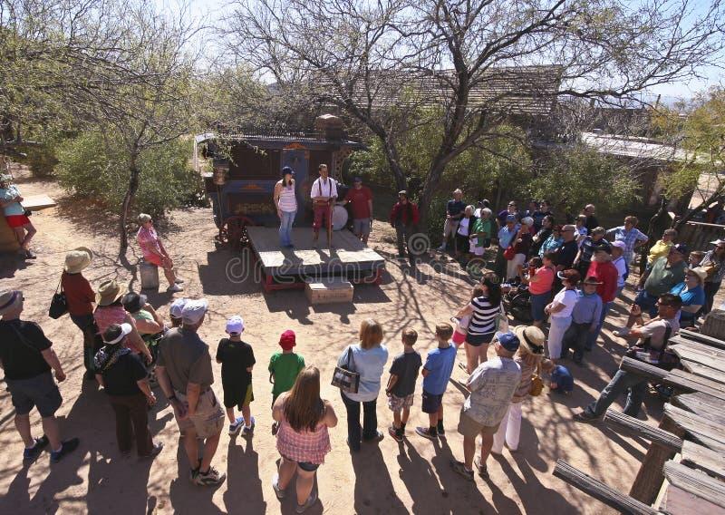 Una manifestazione della medicina di vecchio Tucson, Tucson, Arizona fotografia stock libera da diritti