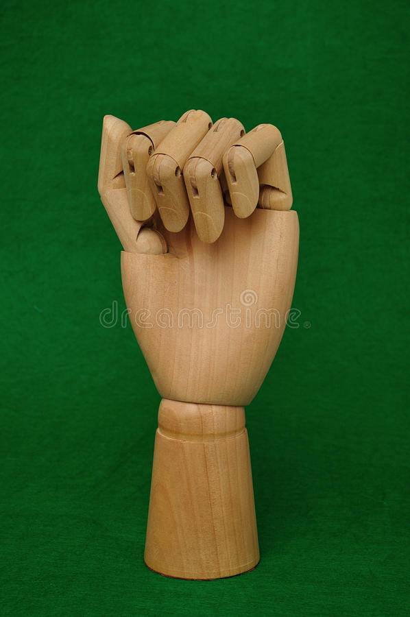 Una mano del manichino fotografie stock