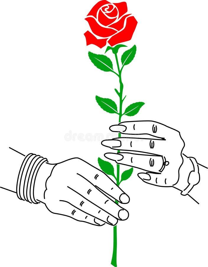 Una mano di due amori illustrazione vettoriale