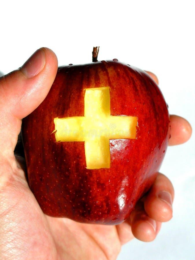 Una manzana al día? foto de archivo