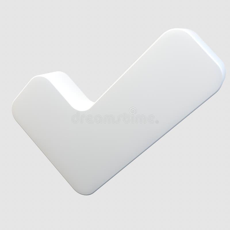 Una marca de la señal ilustración del vector