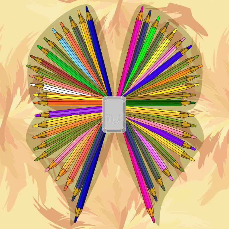 Una mariposa de los lápices foto de archivo