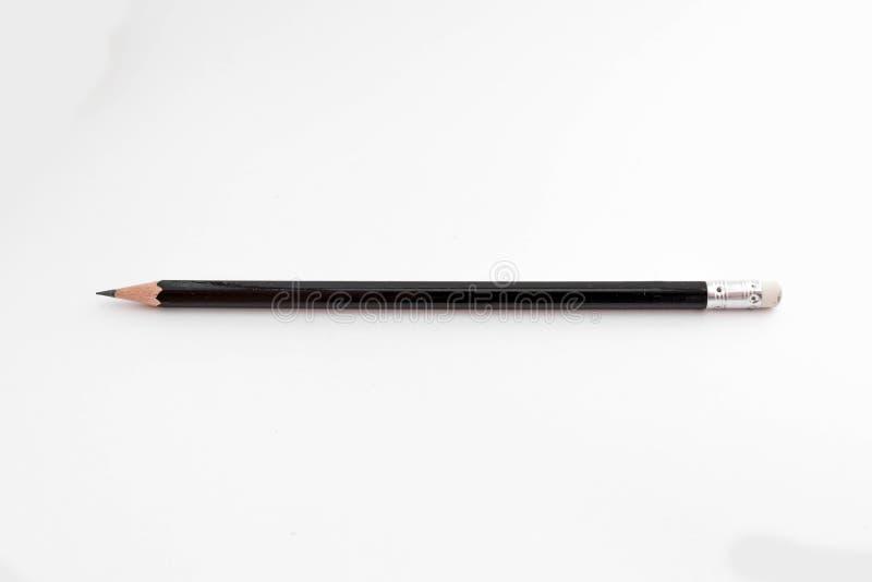 Una matita nera immagini stock