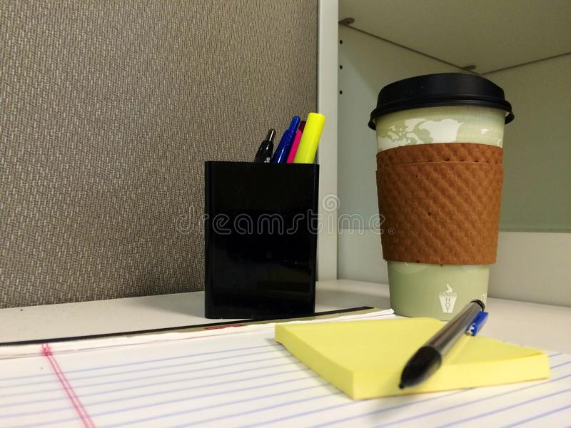 Una mattina dell'ufficio immagine stock