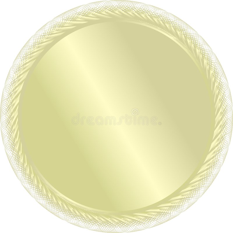 Una medaglia di oro. Vettore. Per winn illustrazione di stock