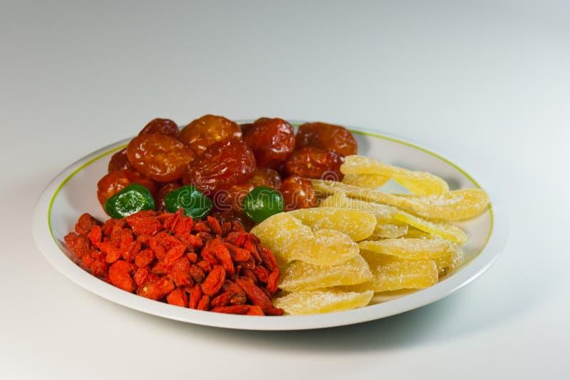 Una mezcla de frutas secadas para una dieta sana foto de archivo libre de regalías