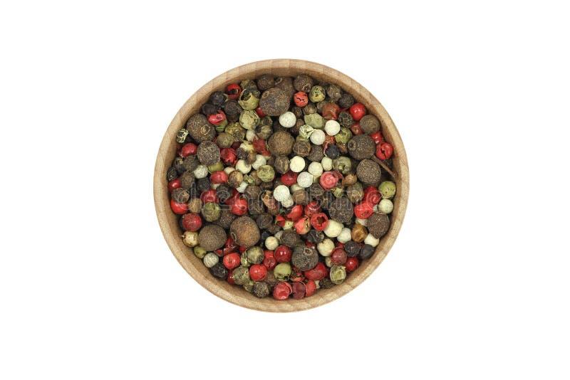 Una mezcla de granos de la pimienta fotografía de archivo
