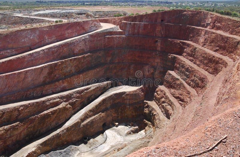 Una mina de cobre en Cobar imagenes de archivo