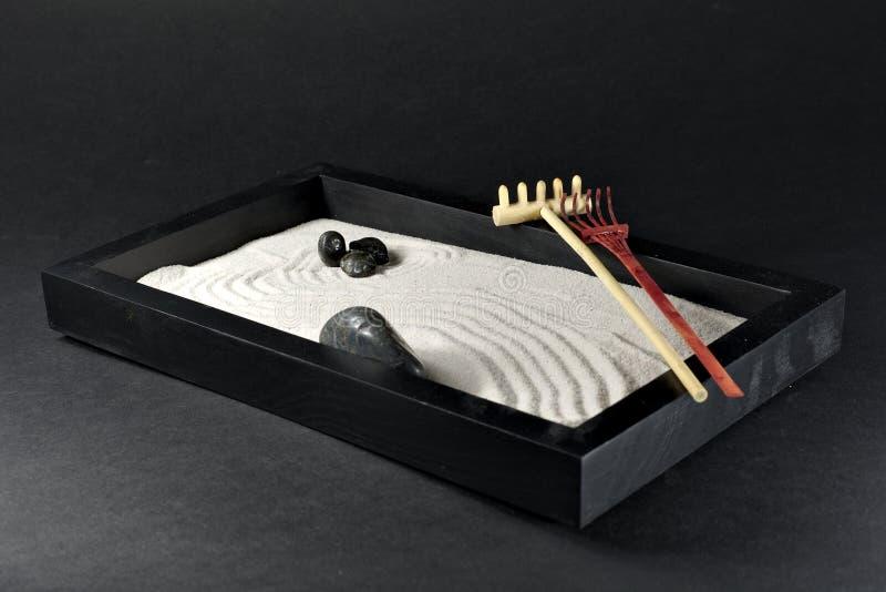 Una miniatura Zen Garden del japanise fotografia stock