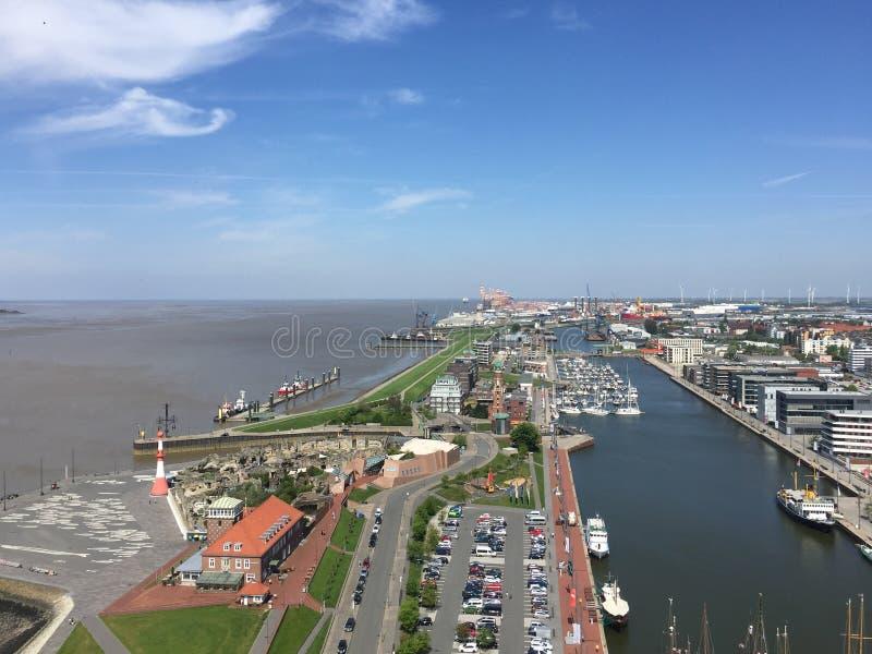 Una mirada sobre Bremerhaven fotos de archivo