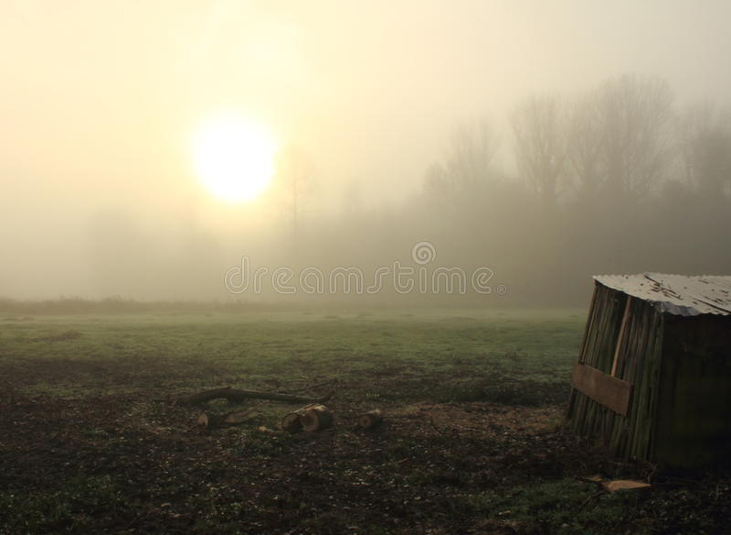 Una Misty Morning imagen de archivo