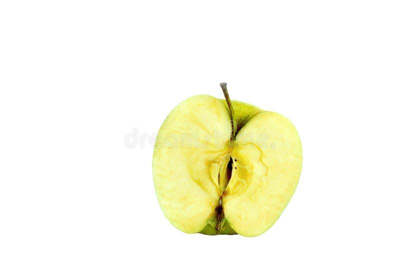 Una mitad de la manzana imágenes de archivo libres de regalías