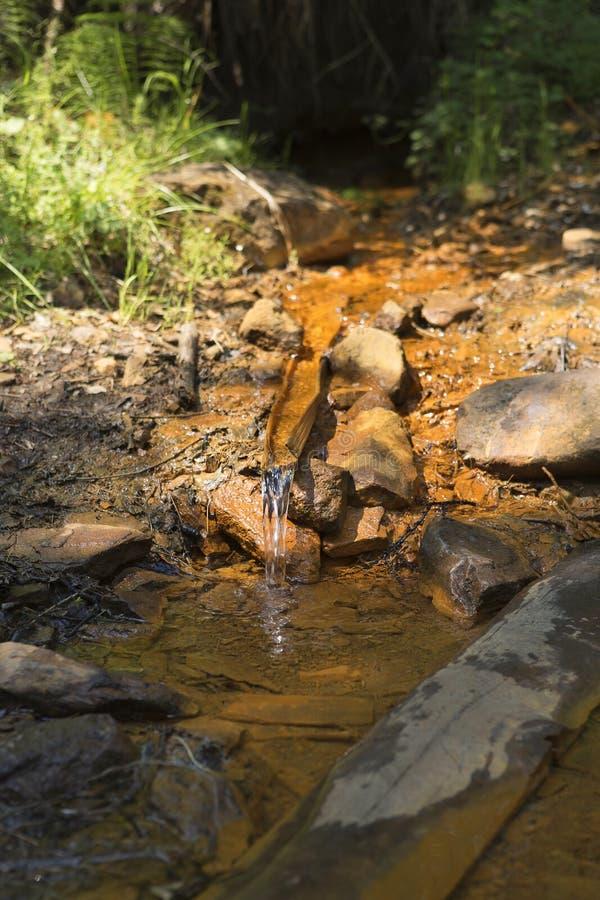 Una molla santa di acqua con le proprietà medicinali fotografia stock libera da diritti