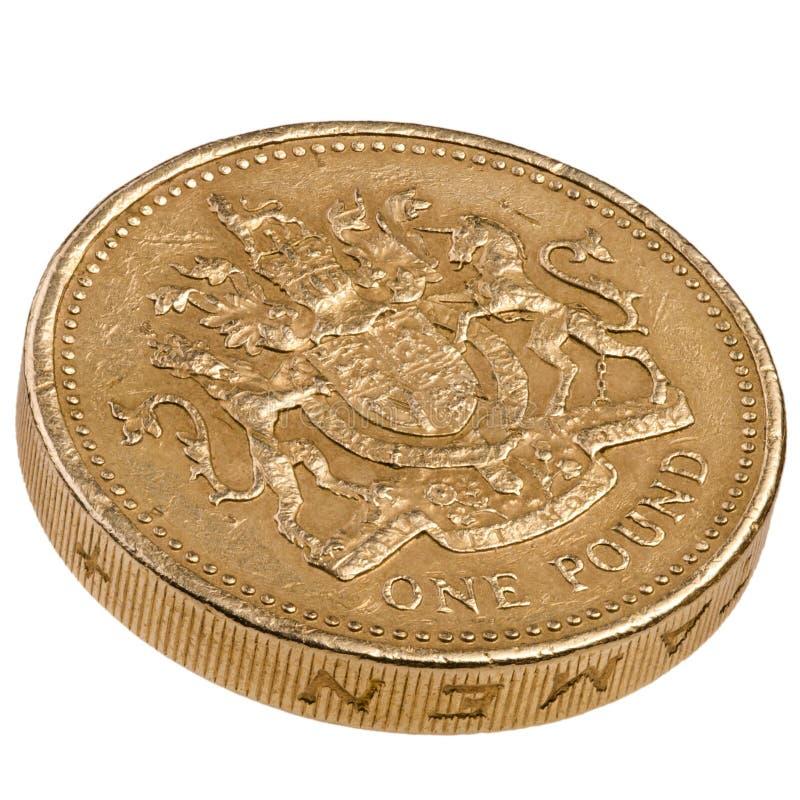 Una moneda de Británicos de la libra imagen de archivo