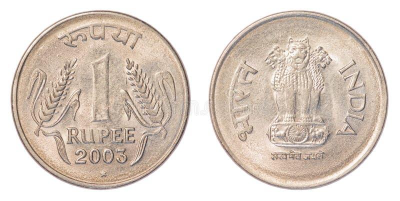 Una moneda de la rupia india imagen de archivo