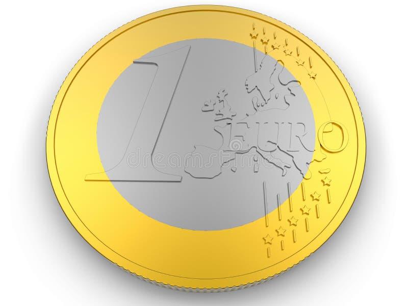 Una moneda euro stock de ilustración