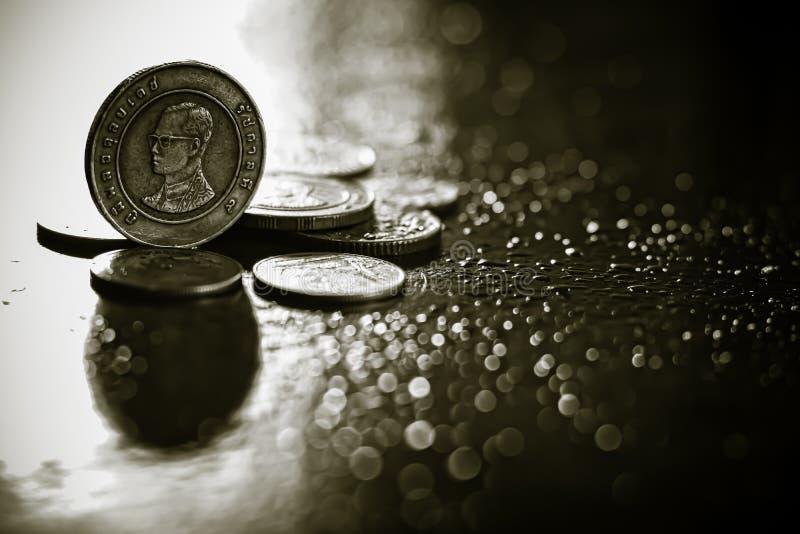 Una moneta da dieci baht di tailandese fotografie stock