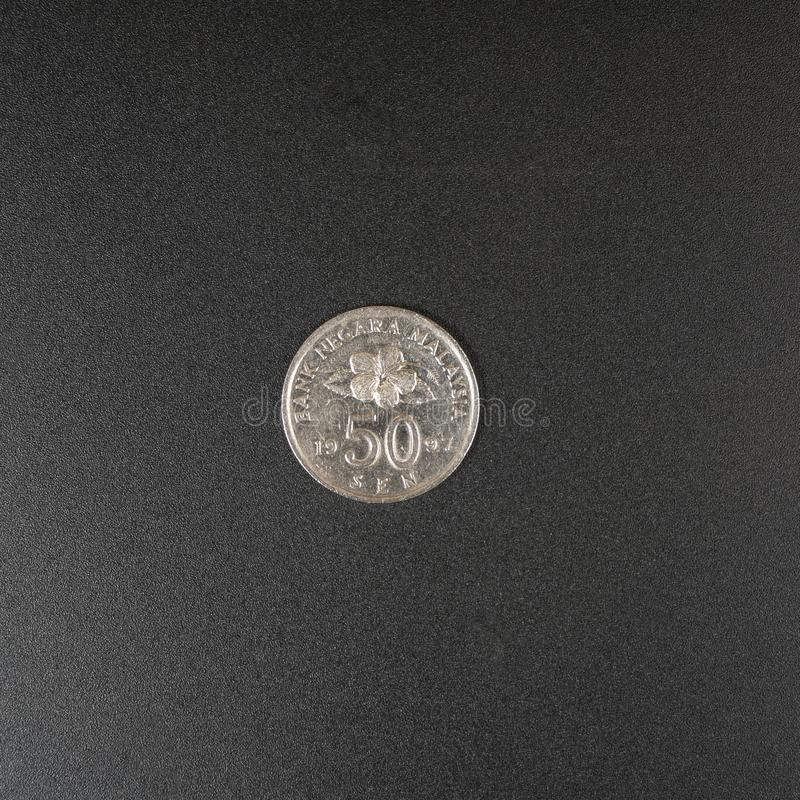 Una moneta di ringgit malese immagini stock libere da diritti