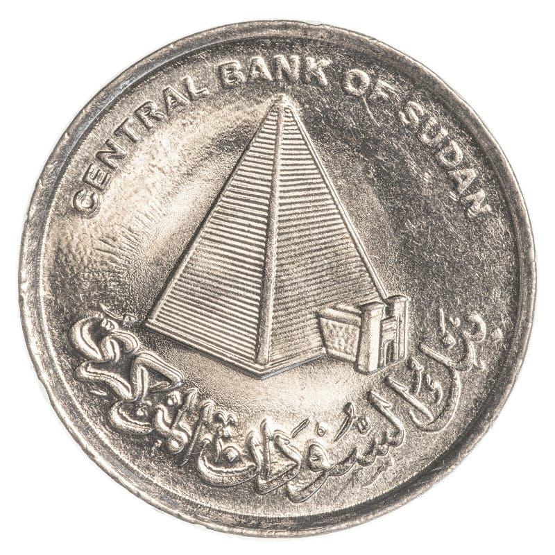 una moneta sudanese da 10 piastre immagini stock