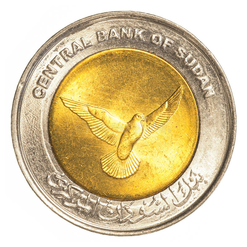 una moneta sudanese da 50 piastre fotografia stock